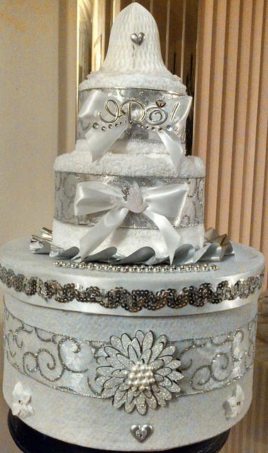 Wedding Towel Cake Images