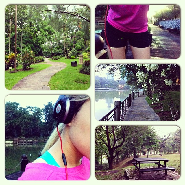 Woke up before dawn for a morning walk in the park. #drbeats #exercise #healthy #park #kl #malaysia