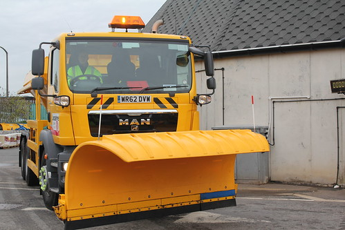 1 of 7 Gritting trucks at the Cuerdon Mill Depot's disposal