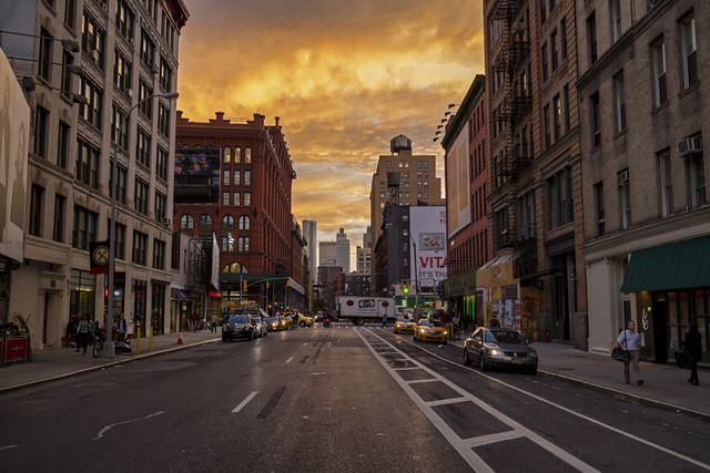 Sunset at SoHo