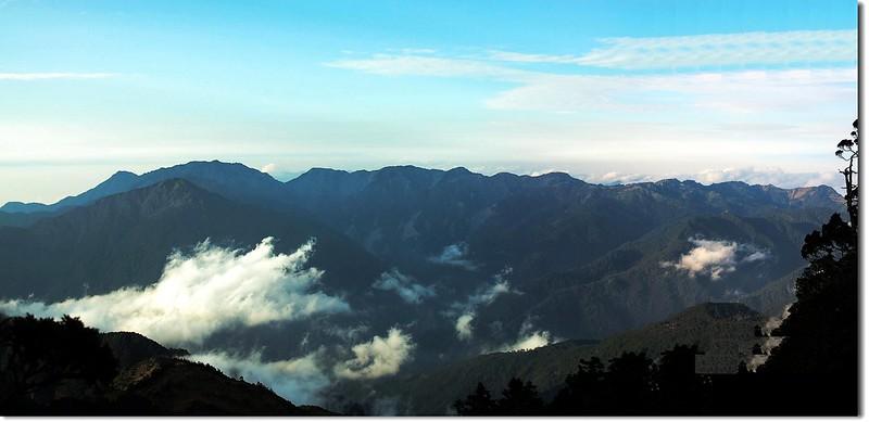 南三段群峰(From 馬博山屋) 1