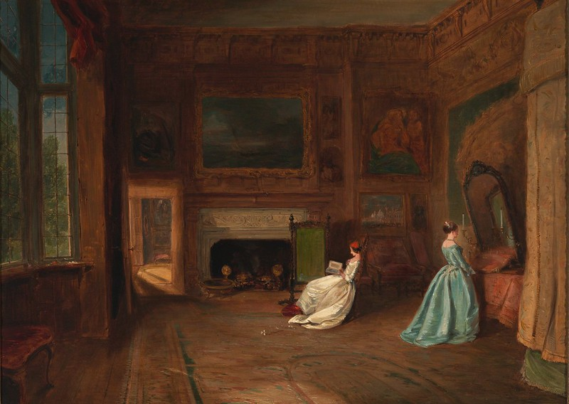 James Holland - The Lady Betty Germain Bedroom at Knole, Kent (c.1845)