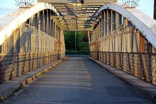 Wigg Island Swing Bridge in Runcorn
