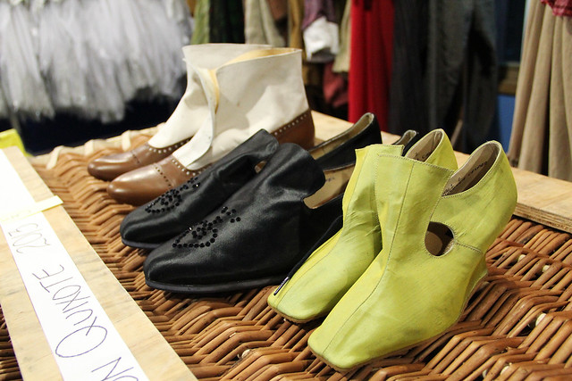 Shoes from Royal Opera productions (left to right: Le nozze di Figaro, Faust, Rigoletto) © ROH/Chris Shipman
