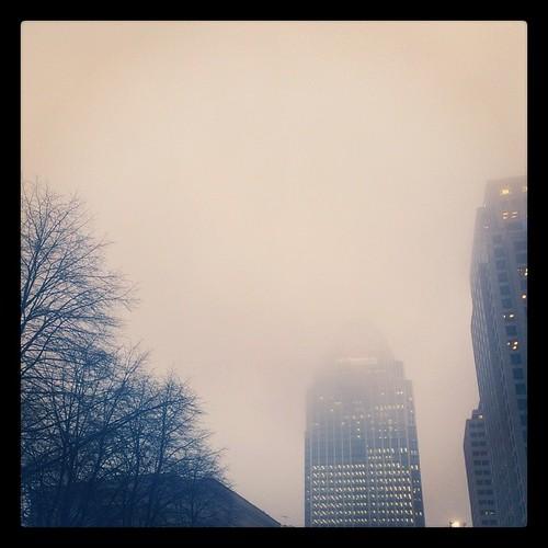 A rainy morning in downtown Cincinnati...