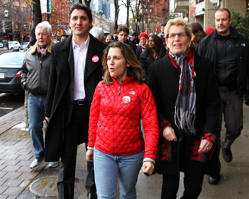 Justin Trudeau, Kathleen Wynne and Chrystia Freeland | Toronto Centre Byelection