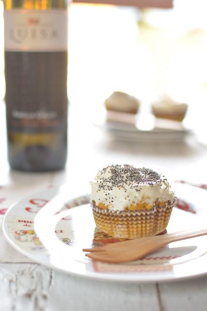 Cupcakes Salati di Zucca e Pecorino Toscano con Frosting di Caprino ai semi di Papavero e Nocciola