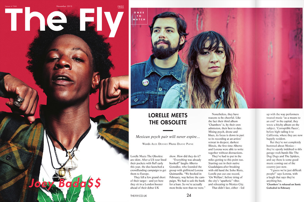 Lorelle Meets The Obsolete, The Fly Nov 2013