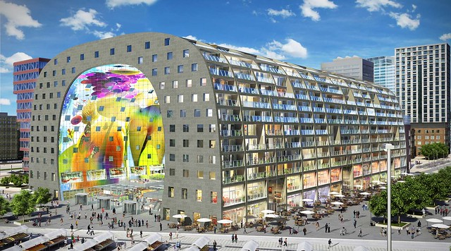 Markthal rotterdam nieuwbouw architectuur rotterdam for Archi interieur rotterdam