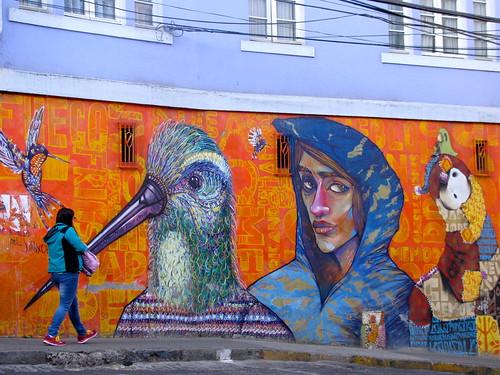Graffiti porteño en Almirante Montt by Miradas Compartidas