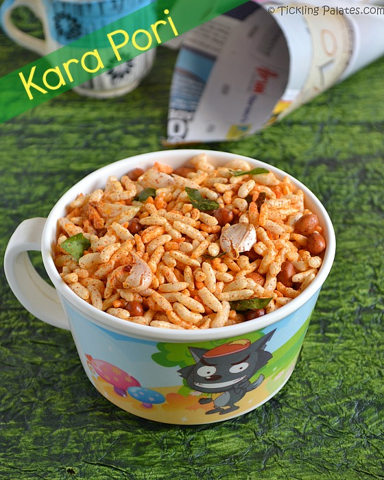 Kara Pori – Masala Pori Recipe – Spicy Puffed Rice / Murmura