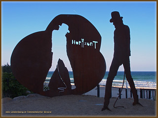 Udo Lindenberg - Monument in Timmendorfer Strand (beach) in front of the Maritim Hotel