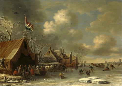 012-Sobre el hielo, Thomas Heeremans, 1677-Rijkmuseum