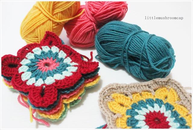 Crochet Granny squares blanket _ 1