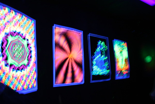 Black Light Posters at Big Mike's Mystery House in Cave City, Kentucky