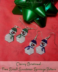 Small Snowmen Earrings - Free Pattern
