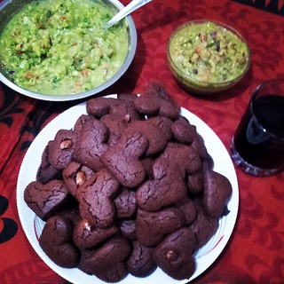 #homemade #red #wine, #brownies #biscuits, #hot and #sweet #guacamole #yummy