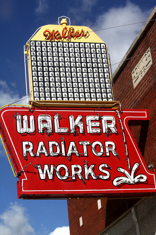 Walker Radiator Works neon sign - Memphis, TN