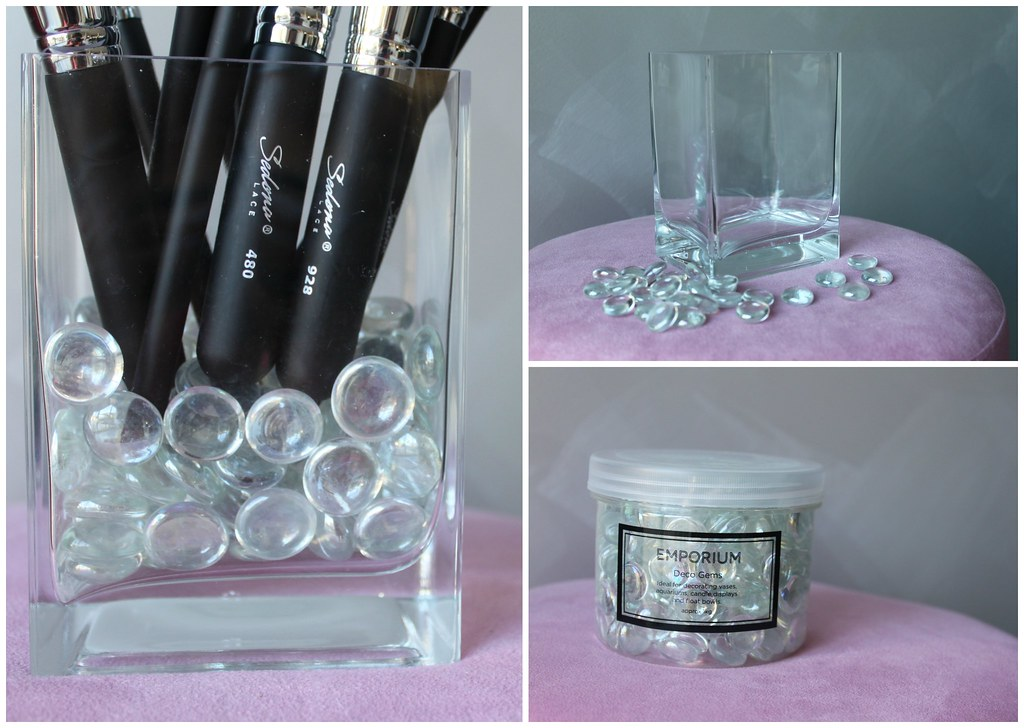Makeup Brushes storage cup vase holder brush australian beauty review blog blogger aussie ikea cheap affordable spotlight filler idea creative diy budget cosmetics square rectangle medium small large sedona lace idea