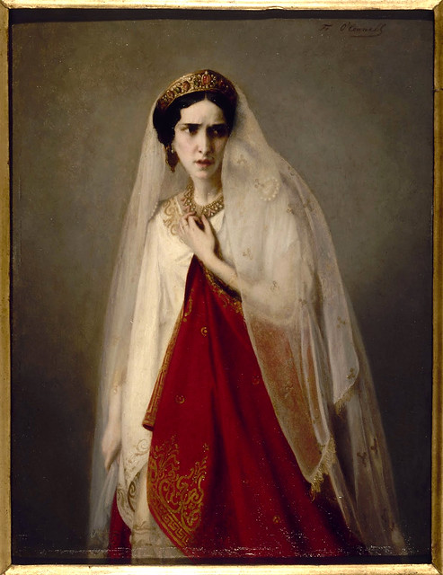 """Rachel in the role of Phaedra"" 1850 Friederike Emile August O'Connell"
