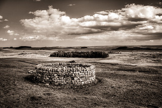 19th century well at Housesteads, next to Hadrian's wall