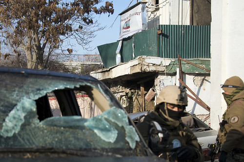 Kabul, Afghanistan bombing of a Cafe on January 18, 2014. The attack killed Americans and other foreign nationals. by Pan-African News Wire File Photos