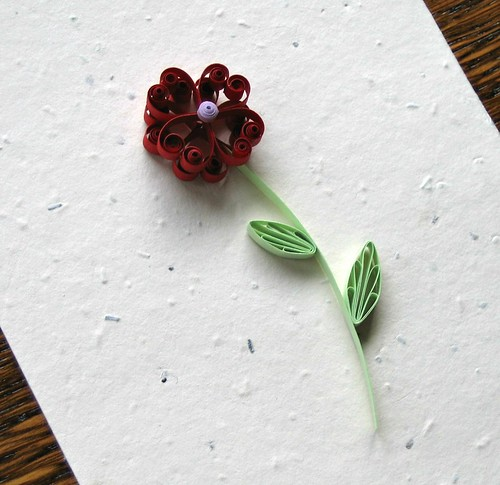 Quilled Heart Flower Card Tutorial