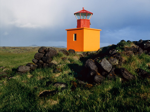 sunset red orange lighthouse film grass analog iceland islandia stones e6 provia400x epsonv750 fujifilmgf670 tetenal3bathkit f0254 exif4film