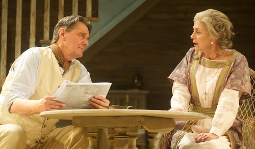 Paul Shelley as James Tyrone and Diana Kent as Mary Tyrone in the Royal Lyceum's 2014 production of Long Days Journey Into Night. Photo © Alan McCredie