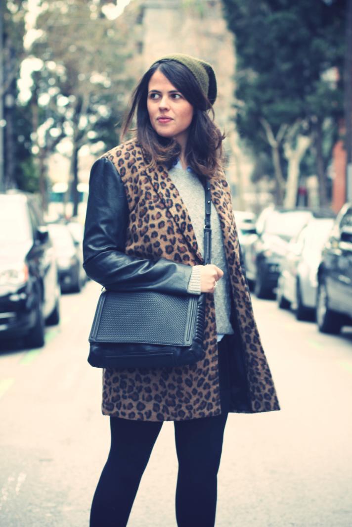 Look Leopard Coat + Beanie