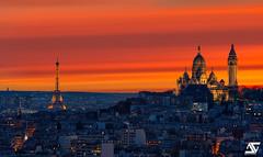 Eiffel & Sacré Coeur @ Sunset