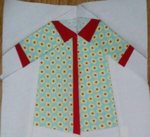 Paper pieced shirt - 3