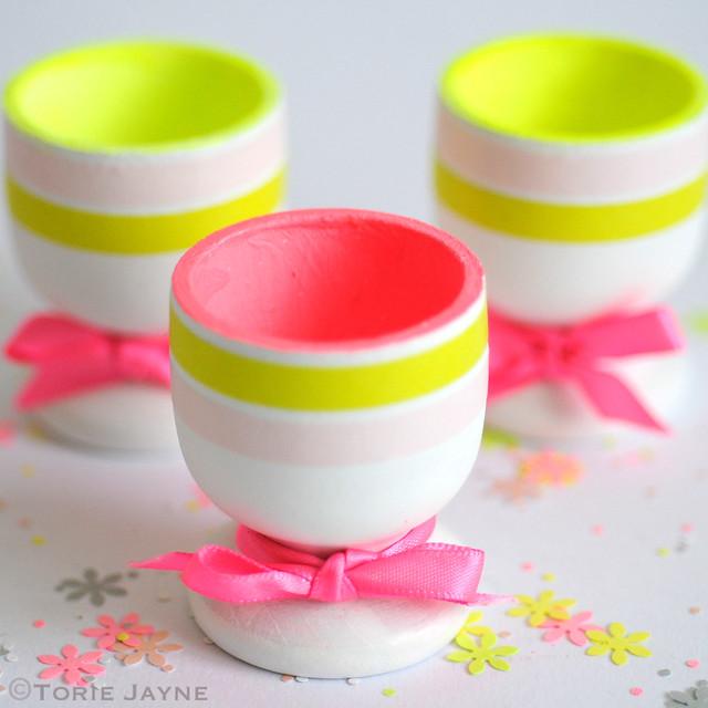 Pretty neon egg cups