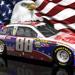 Dale Earnhardt Jr NASCAR Unites Patriotic Wallpaper 16x10
