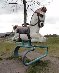 Vintage Horse Spring rider - made by Miracle