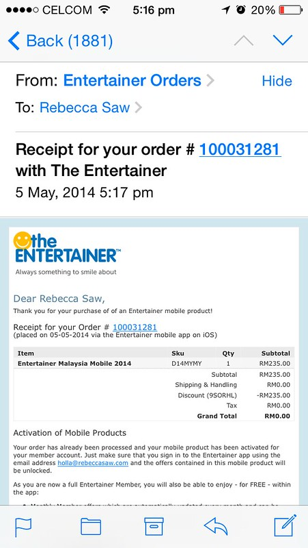 The Entertainer 'but one get one free' vouchers app-004