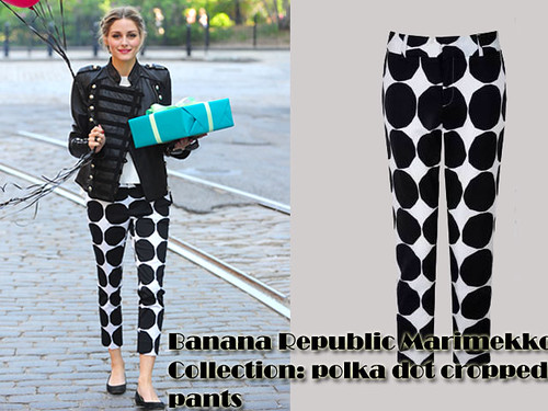 Polka dot pants/trousers trend