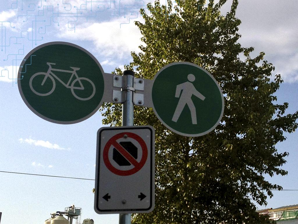 Organização até para os pedestres