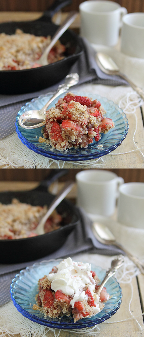 Paleo strawberry ginger crisp
