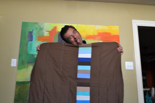 Kate's baby quilt-silly family photo shoot