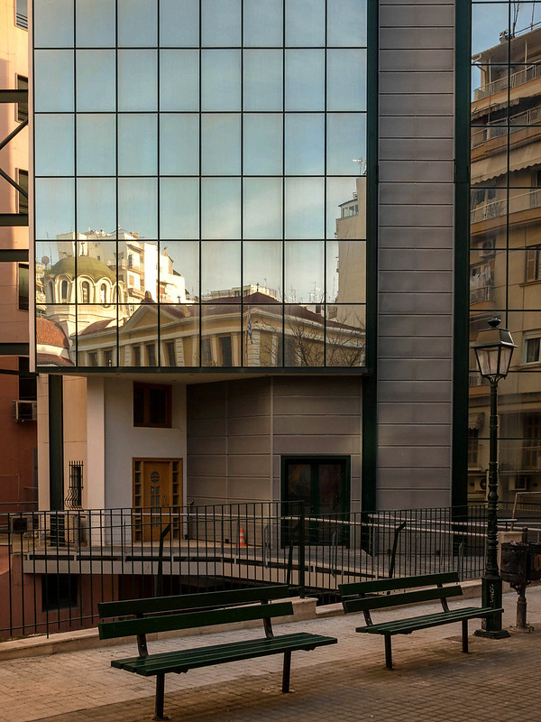 Old School Building Reflection