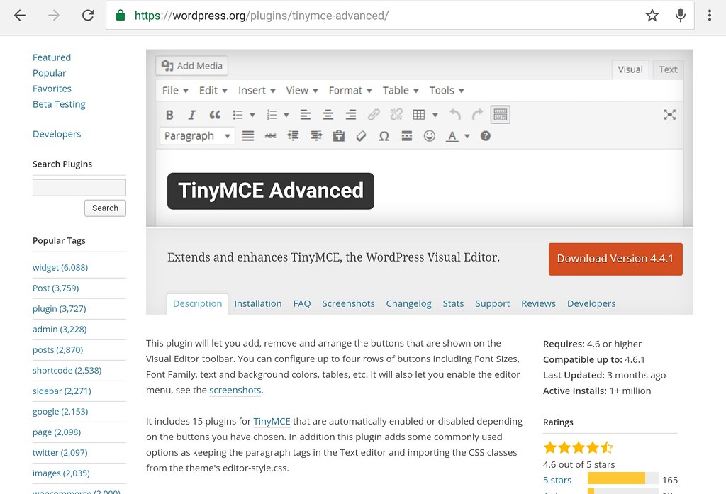 wp plugin tinymce