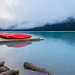 Lake Louise Boat Dock by 1ns0mn1ac
