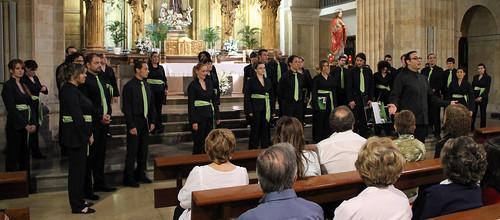 """CORO """"ÁNGEL BARJA"""" JJMM-ULE EN LA FIESTA DE LA MÚSICA 2013 - IGLESIA P.P. FRANCISCANOS 22.06.13"""