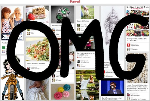 Pinterest front page with OMG written on it
