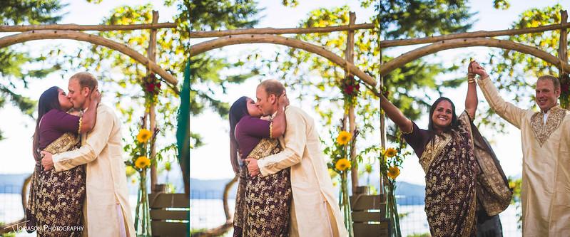 wedding kiss orcas island