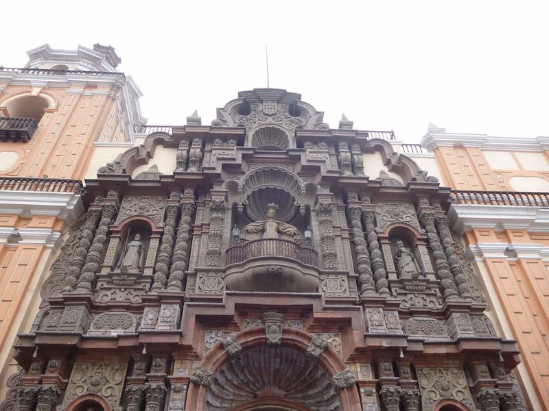 Nice church deco in Lima