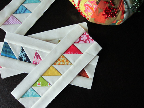 paper pieced triangles
