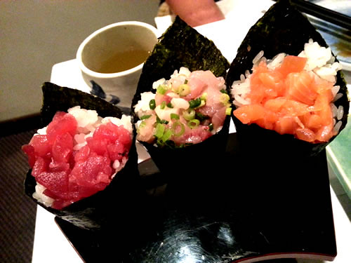 Hand rolls at Zen Japanese