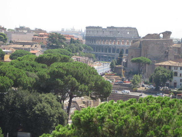 View of the Colosseum from the Wedding Cake Building